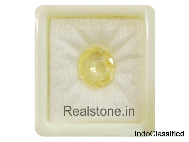 Buy Yellow Sapphire & Pukhraj Best Price at Chandigarh 37C