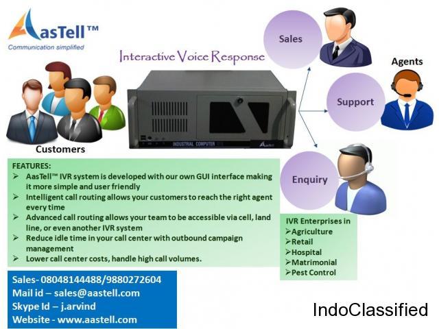 AasTell Dynamic IVR System!!