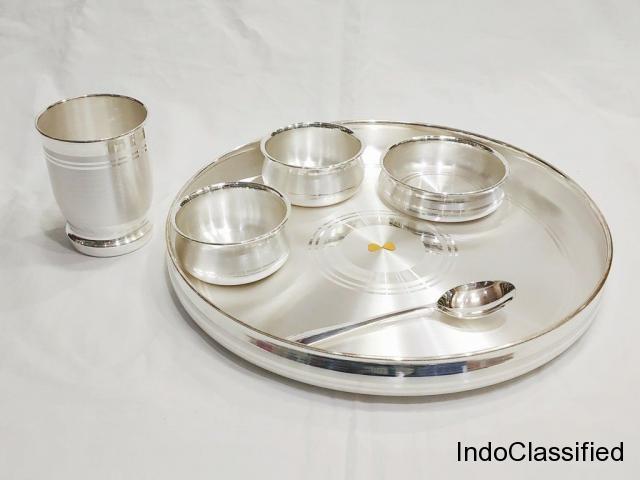Dinner Set – Buy Dinner Set Online India | Pure Silver Dinner Set.
