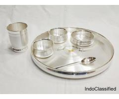 Dinner Set – Buy Dinner Set Online India | Pure Silver Dinner Set.