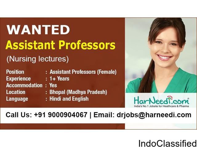 Wanted Assistant Professors - Nursing