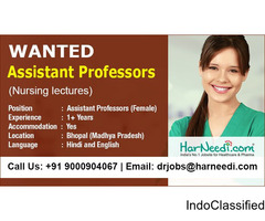 Wanted Assistant Professors - Nursing