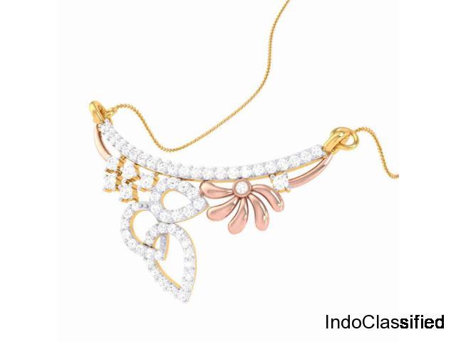 Real diamond Mangalsutra