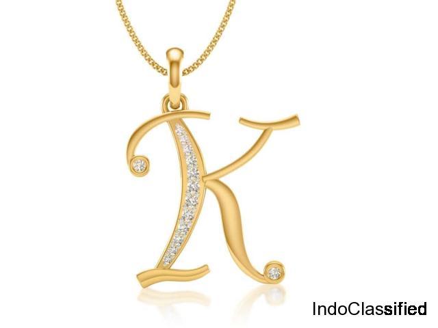 Diamond alphabet letter pendant
