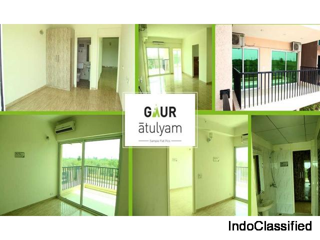 Excellent 1BHK Flat at Gaur Atulyam Greater Noida @ Rs. 2995/ sq.ft : 9250-377-000