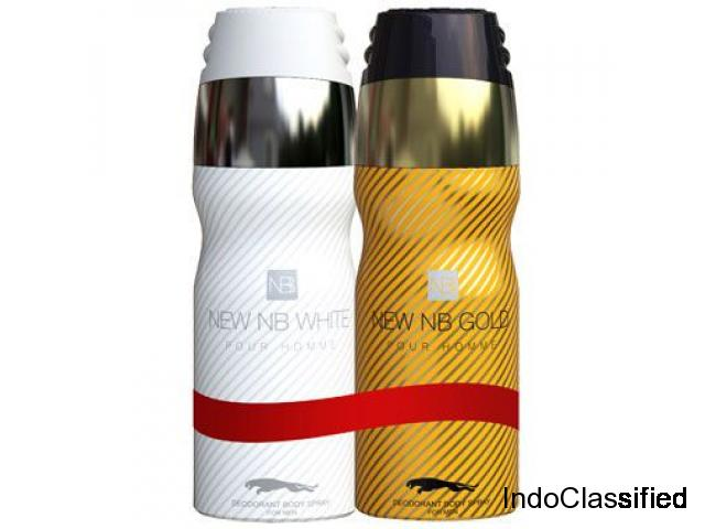 New NB Combo Pack White Pour Homme and Gold Pour Homme