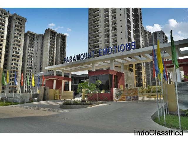 Best Quality 3 BHK Flat @ Rs. 2999/ Sq.Ft. in Paramount Emotions: 8750-988-788