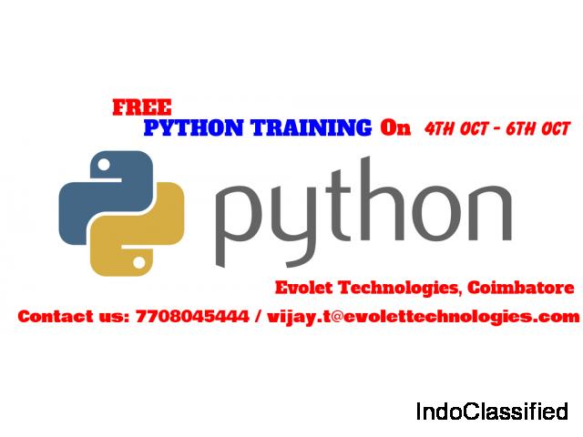 FREE PYTHON training in Coimbatore  PYTHON FREE training in Coimbatore  FREE PYTHON
