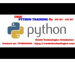 FREE PYTHON training in Coimbatore| PYTHON FREE training in Coimbatore |FREE PYTHON
