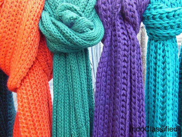 Designer Scarves For Women-Red Ridiing