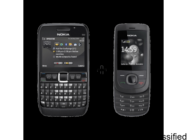 Buy Nokia E63 And Get Nokia 2220 Free - (6 Months Gadgets Warranty)