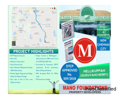 Guduvanchery in DTCP Approved plots for sale at Loan Arranged