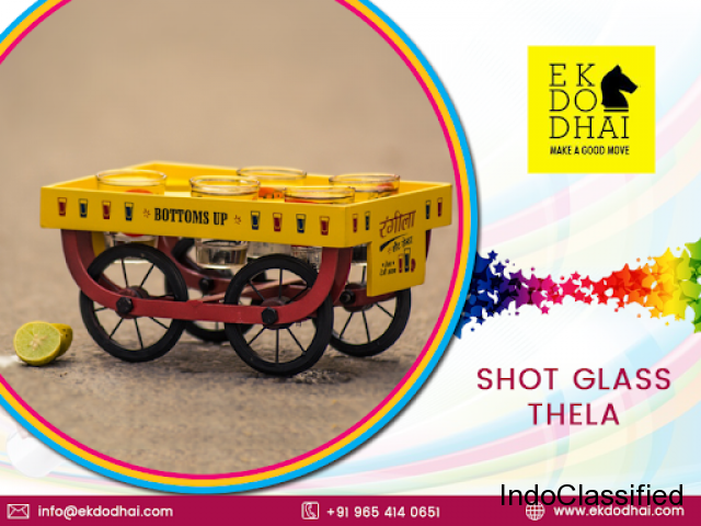 Buy Shot Glasses Thela (Bar trolley) by Ekdodhai Online at Low Prices in India