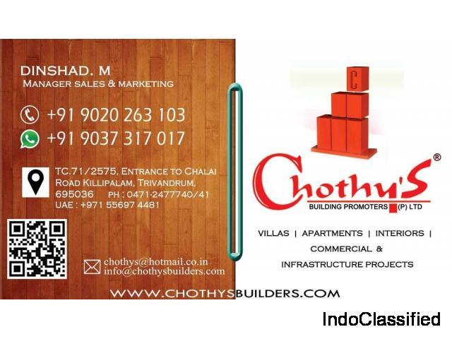 Chothys Builders Villas Near Kazhakoottam 9020263103