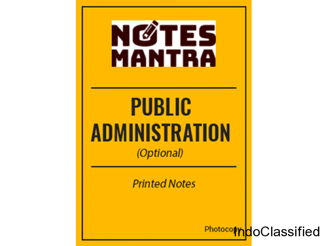 Public Administration Notes