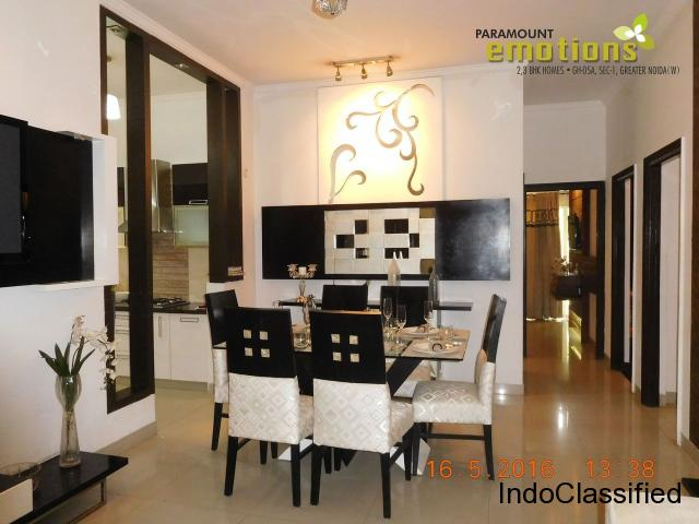 Buy Now! Paramount Emotions 3 BHK Flat @ Rs.2999/ Sq.ft : 8750988788