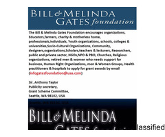 The Bill & Melinda Gates Foundation: Apply, Like And Share.