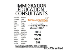 IELTS/ TOEFL/ GMAT/ GRE Training available at just 4999/-