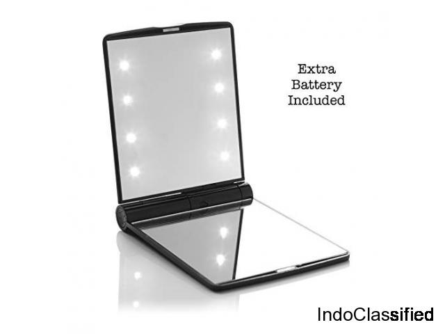 Buy LED Travel Mirror with 8 Lighted Bulbs