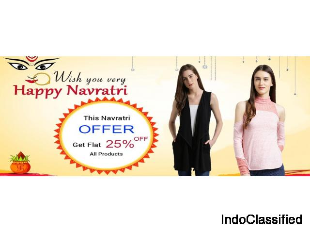 navratri offer get extra 25% off on all product at texco