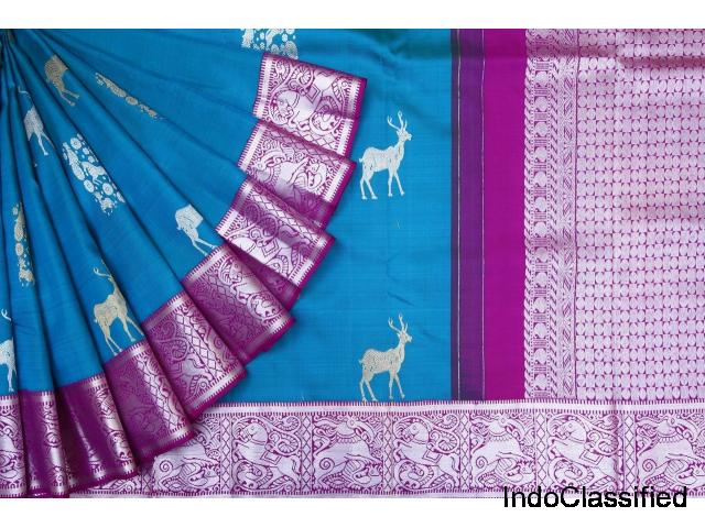 Online shopping for Grand traditional kanchi pattu wedding sarees collection @ brand singhanias