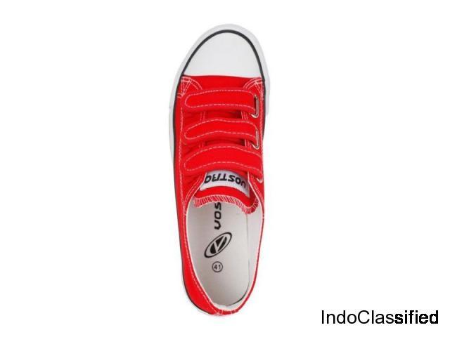 Canvas Men Shoes, Amos-03 Red Men Casual Shoes