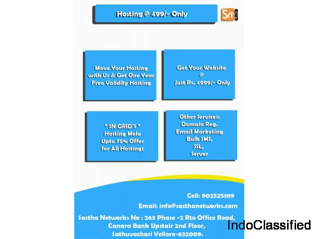 SNGRID Web Hosting Service Provider in Vellore Just at 49 Only
