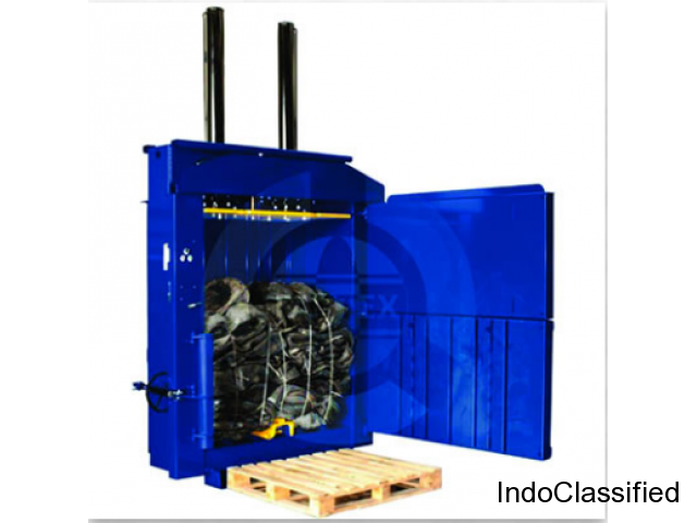 Hydraulic Tyre Baler | Paper Baling Press | Fabtex Cbe