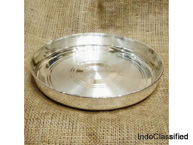 Buy Silver Dinner Set & Silver Plate Online | 999 BIS Hallmarked