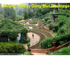 1 Night 2 Days Ooty bus Package, Best Ooty Tour Packages by ShubhTTC