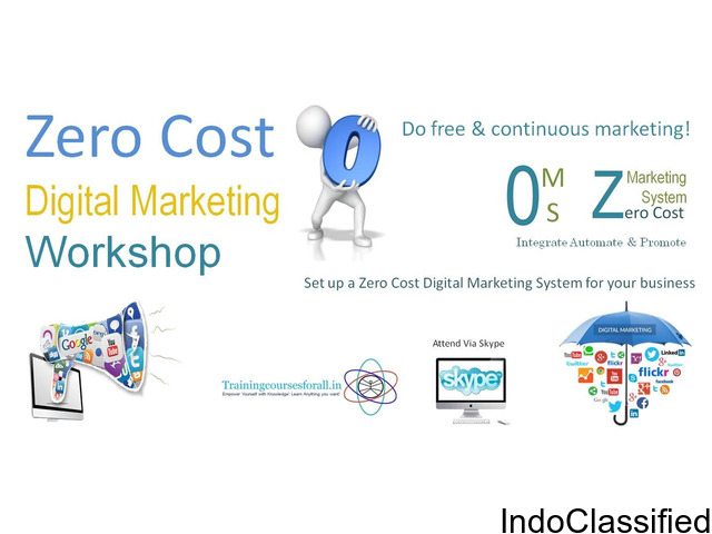 Certificate Workshop on Zero Cost Digital Marketing