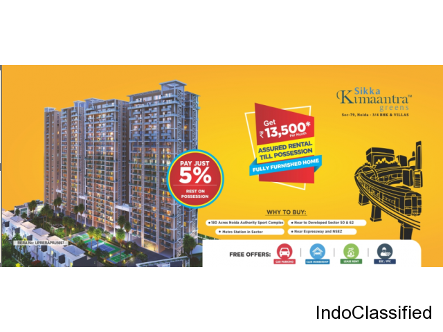 Sikka Kimaantra Greens Noida for booking call us: +919582275275