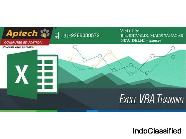 Best VBA and Excel Course in India | Aptech Malviya Nagar