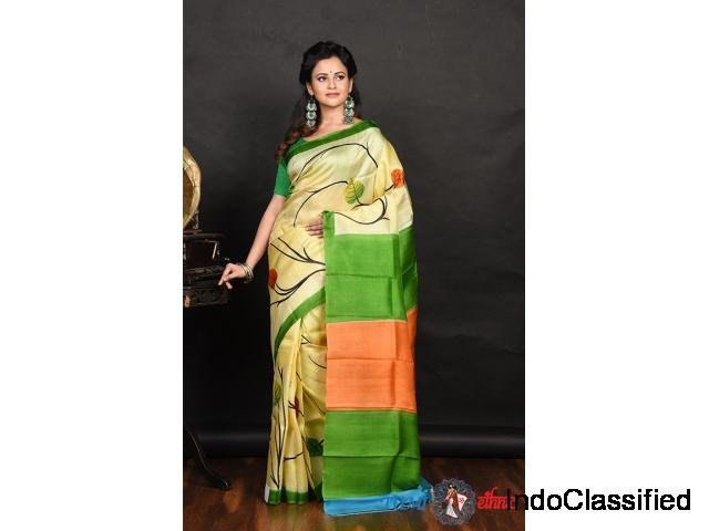 Buy Latest silk saree | Tumi Ethnic