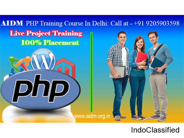 Join PHP training institute in Delhi
