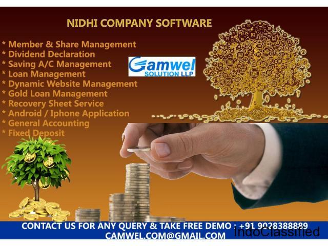 Nidhi company software at small banking management.