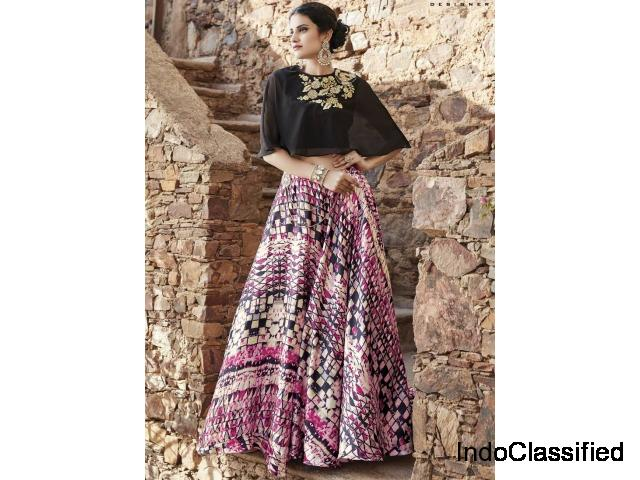 Shop online crop top lehenga from Mirraw at least cost