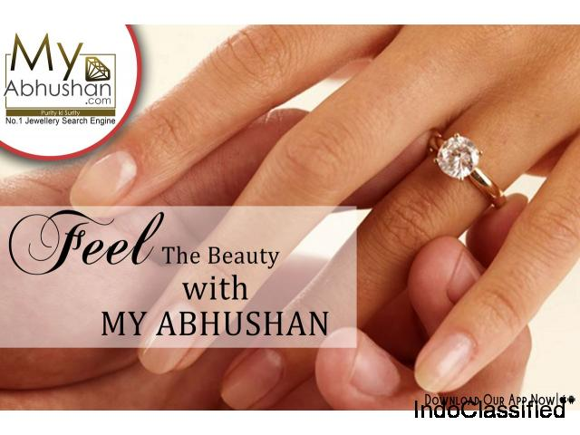 Rose Gold rings | Buy Rose Gold Engagement rings online | MyAbhushan.com