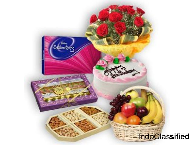 IndiaFlowerGiftShop.com New Year Gifts Cake Flower Delivery India