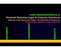 Your reliable partner in Hyderabad for Business Property & Legal Solutions!