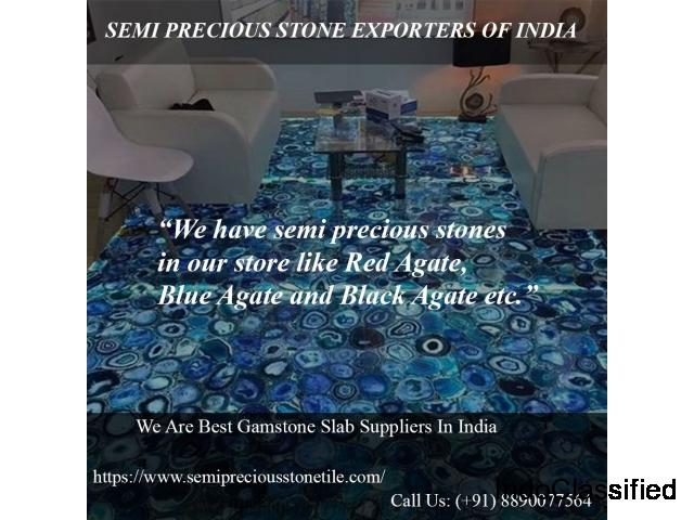 Semi precious stone exporters of India | Gemstone slab suppliers india