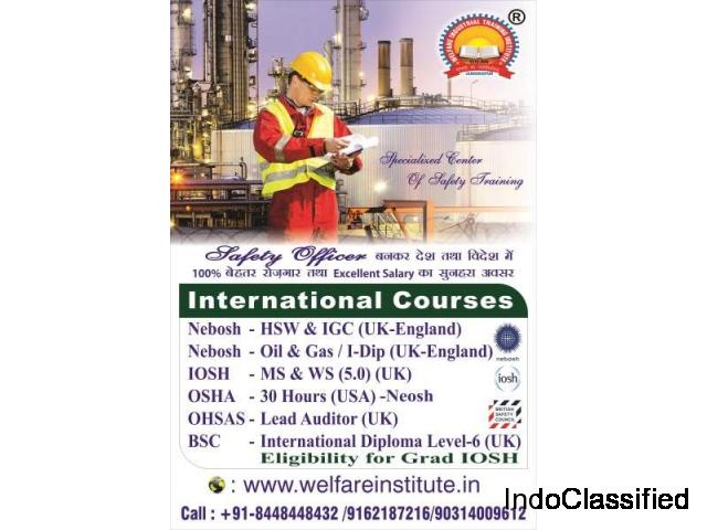 Safety Officer Course(nebosh/iosh/osha)