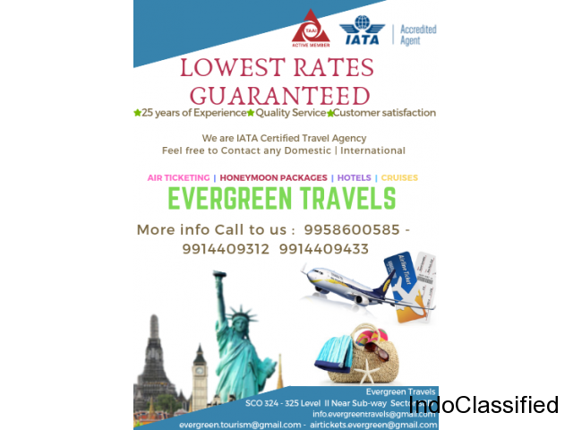 Packages and cheapest rates of FLIGHT TICKETING