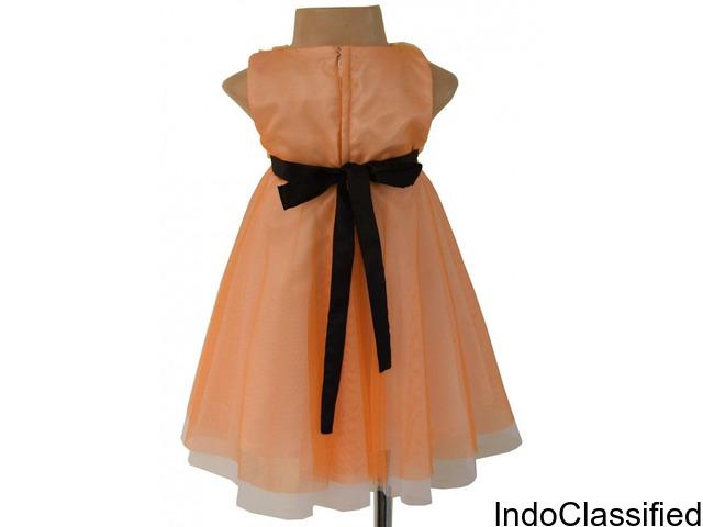 Faye Textured Ribbon Designer Dresses for Girls