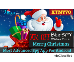 Christmas Special Offer from BlurSPY 70% OFF on Android monitoring App
