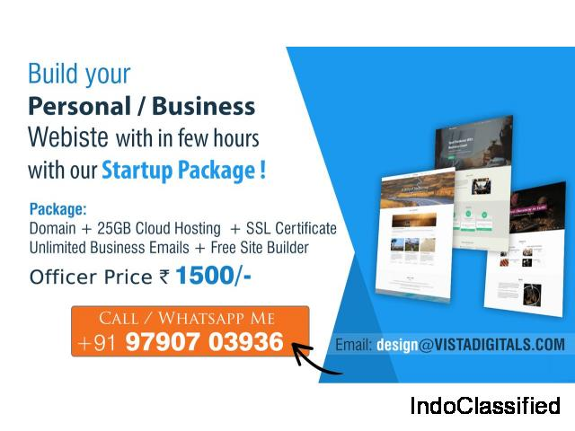 Domain + 25GB Hosting + SSL + Site Builder at Rs. 1500