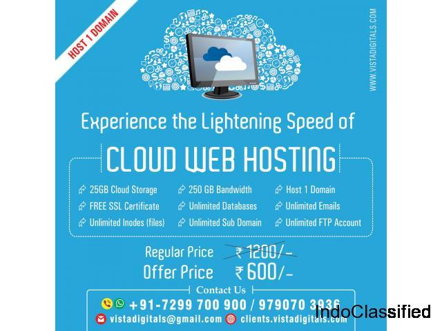 25GB Cloud Web Hosting + SSL Certificate at Rs. 600