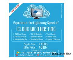 25GB Cloud Web Hosting + SSL Certificate at Rs. 600