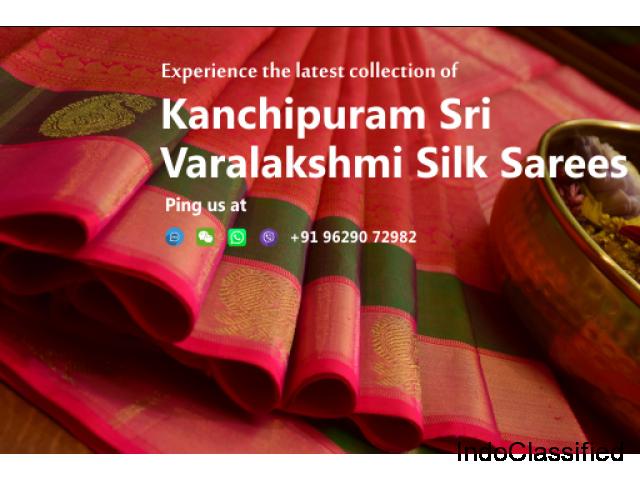 Year End Sale - Kanchipuram Sri Varalakshmi Silk Sarees