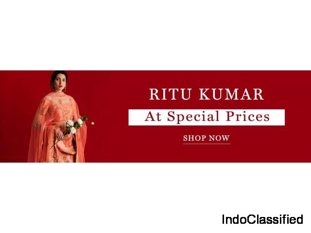 Upto 65% Off on Designer Ritu Kumar Clothing -  Aza Fashions